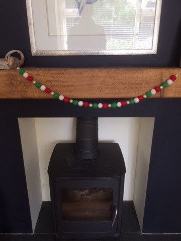 Handmade Felt Ball Christmas Garlands
