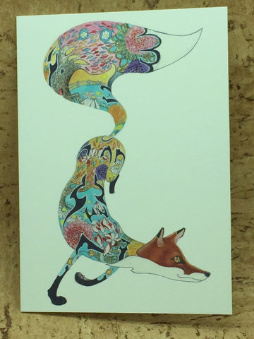 Turquoise Fox Greeting Card