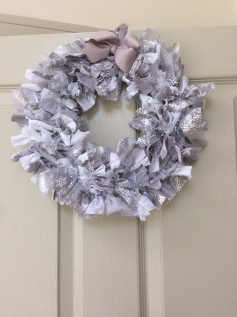 Contemporary Christmas Rag Wreath