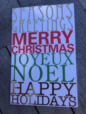 'Christmas Words' Charity Card Pack