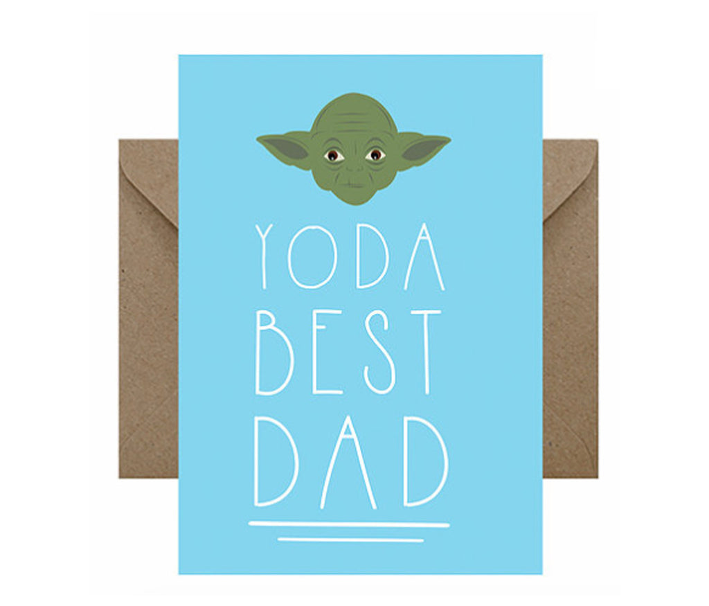 Yoda Best Dad Card