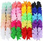 20 Boutique Style Pinwheel Hair Bows Alligator Clips For Girls Babies,Toddlers,Teens (set of 2)