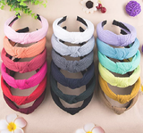 18 Pieces Top Knot Headband Turban Style Multi-colors