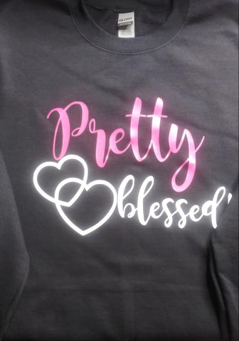 Pretty Blessed Hoodies & Sweat Shirts (Mommy & Me)  (Adult & Youth sizes)