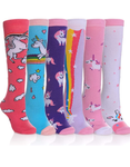 Girls Knee Socks Unicorn Animal Patterns (6 Different Styles)