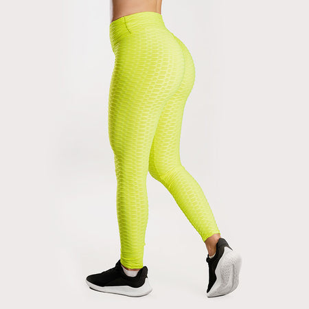 Anti-Cellulite Push-up Leggings Yellow