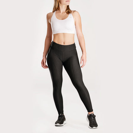 Anti-Cellulite Push-up Leggings Black