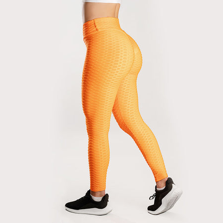 Anti-Cellulite Push-up Leggings Orange