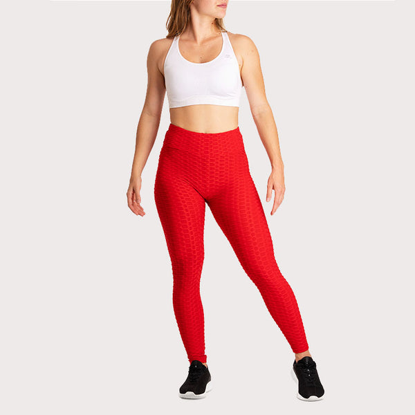 Anti-Cellulite Push-up Leggings Red
