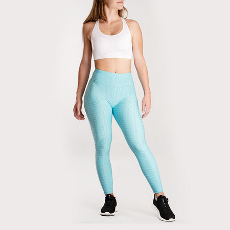 Anti-Cellulite Push-up Leggings Sky Blue