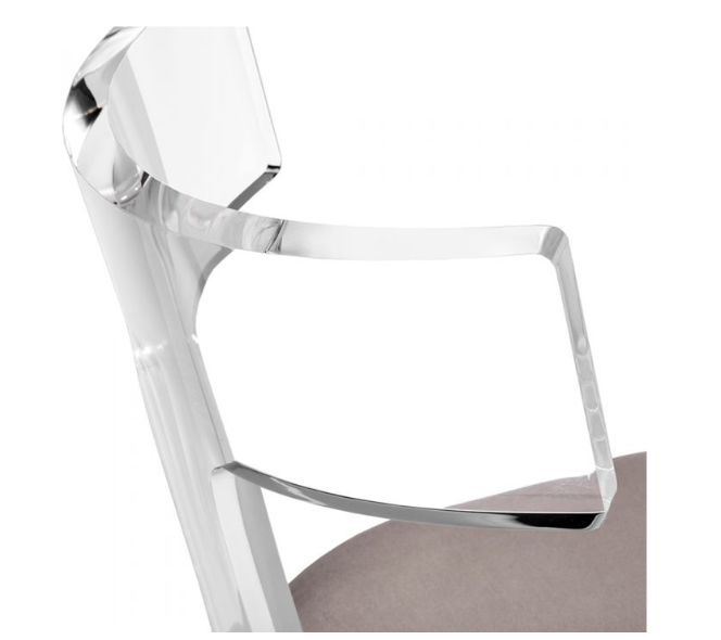 Tristan Acrylic Klismos Chair - Interlude Home