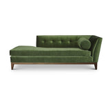 Emma Chaise Lounge - Juniper Velvet W/ Juniper Velvet Bolster- JAMES By Jimmy DeLaurentis
