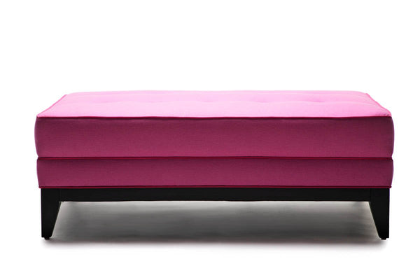 Isabella Ottoman  Pink Wool W/ Pink Welt - JAMES By Jimmy DeLaurentis