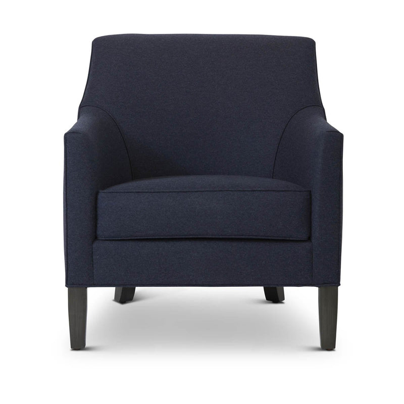 Lucia Chair : Navy Wool - JAMES By Jimmy DeLaurentis