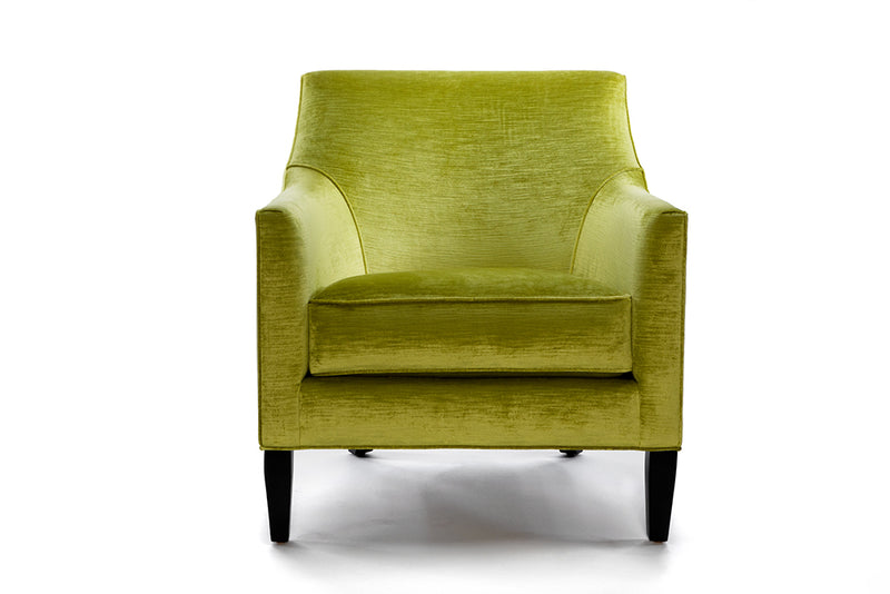 Lucia Chair : Citron Velvet - JAMES By Jimmy DeLaurentis