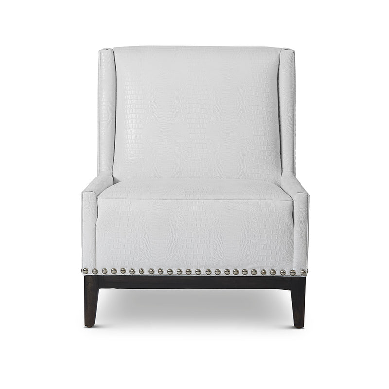 Roma Chair : Faux Leather White - JAMES By Jimmy DeLaurentis
