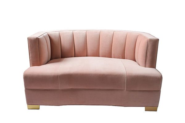 Alessandra Loveseat : Rosewater -JAMES By Jimmy DeLaurentis