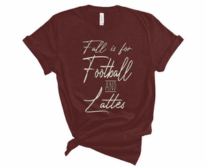 Football & Lattes Fall Tee