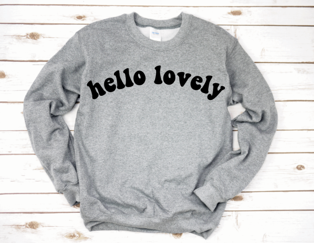 Women's Hello Lovely Crew Neck