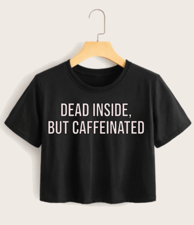 Women's Caffeinated Cropped Tee