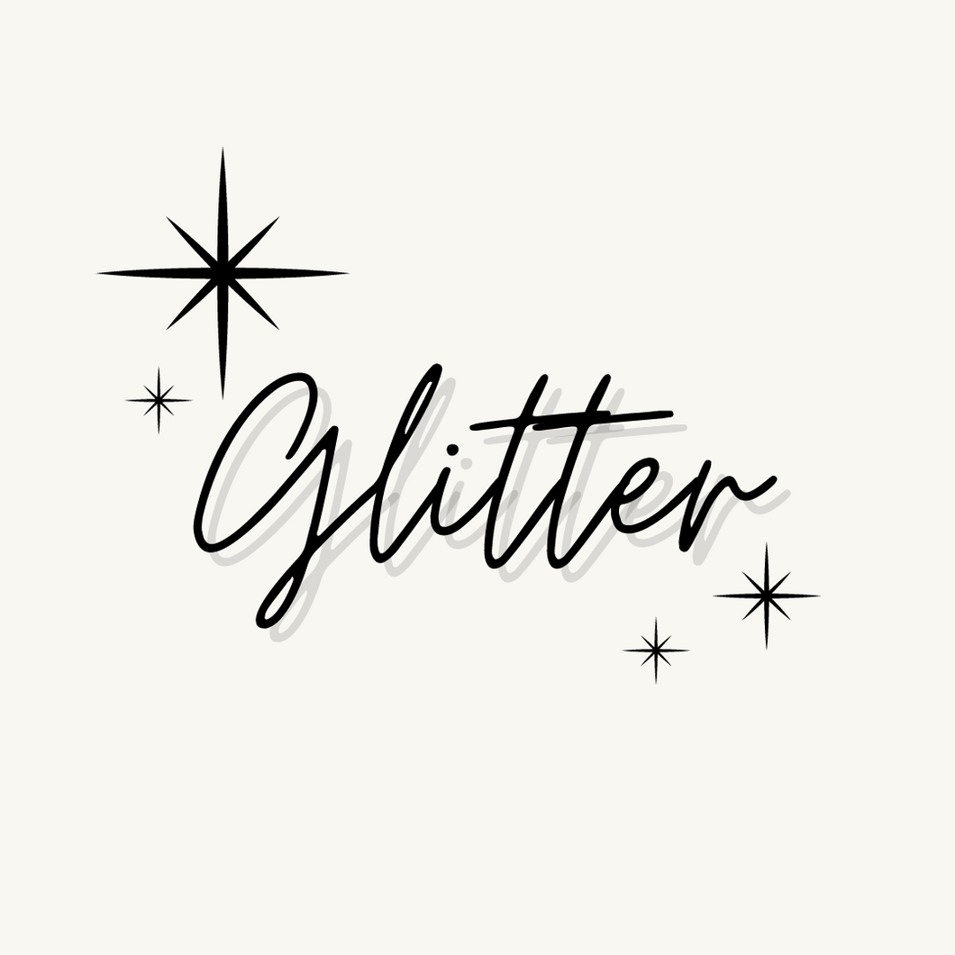 Glitter For Decals