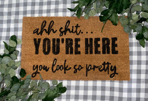 You're Here Door Mat