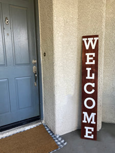 Skinny Welcome Wood Sign