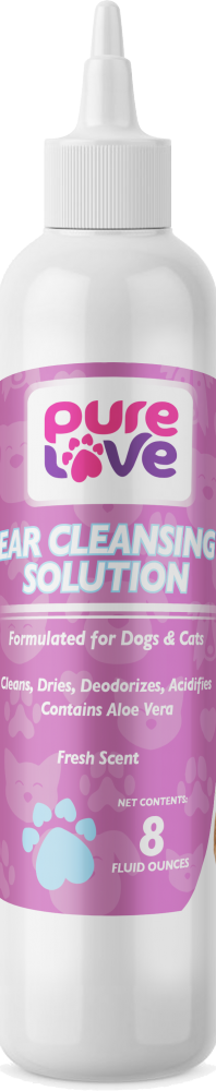 Pure Love Ear Cleaning Solution-Fresh Scent  for Dogs and Cats