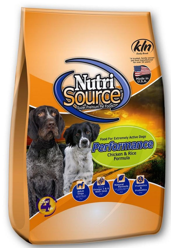 NutriSource Performance Chicken & Rice Dry Dog Food