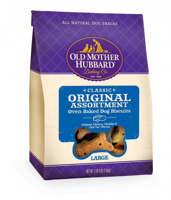 Old Mother Hubbard Mothers Solutions Crunchy Natural Original Assortment Large Biscuits Dog Treats