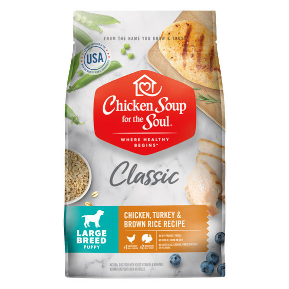 Chicken Soup For The Soul Large Breed Puppy Recipe with Chicken, Turkey & Brown Rice Dry Dog Food
