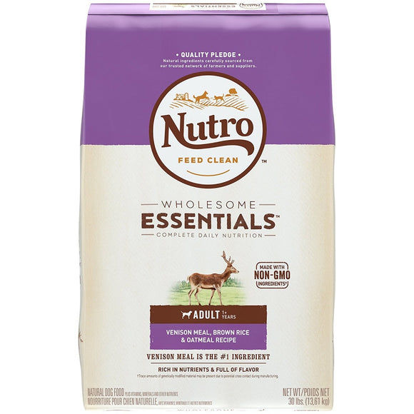 Nutro Wholesome Essentials Adult Venison Meal, Brown Rice and Oatmeal Dry Dog Food