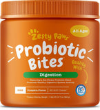 Zesty Paws Probiotic Bites with Digestive Enzymes Pumpkin Soft Chews for Dogs