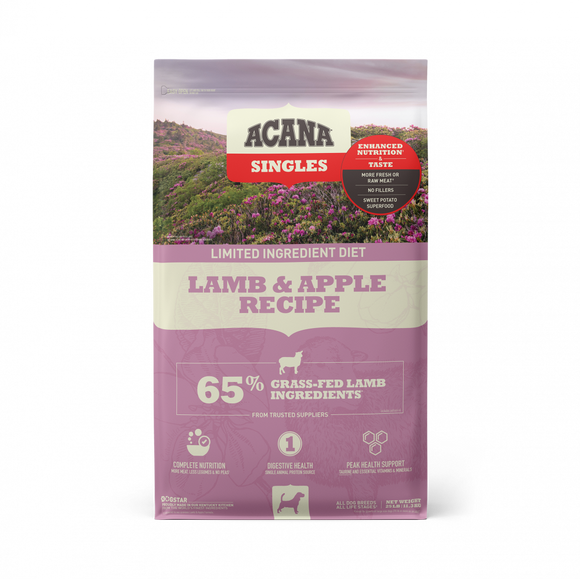 ACANA Singles Lamb & Apple Recipe Grain Free Dry Dog Food