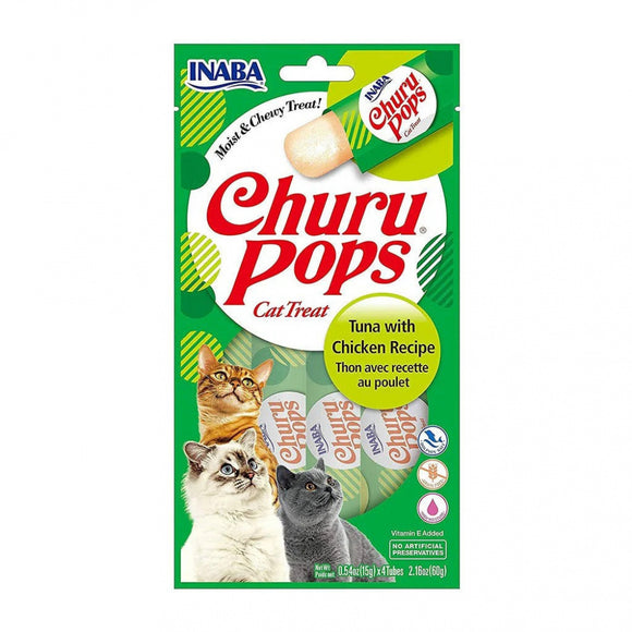 Inaba Churu Pops Tuna with Chicken Recipe Cat Treats