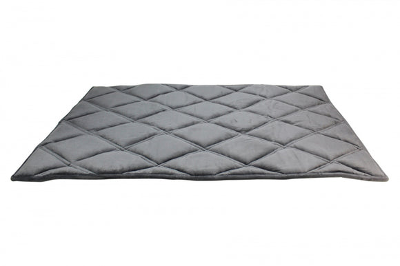 BeOneBreed Upturn Mat Dark Gray Memory Foam Dog Crate Mat