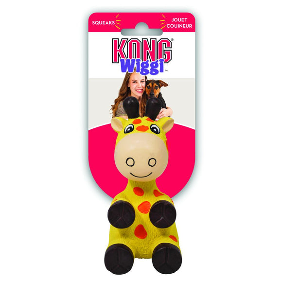 Kong Wiggi Giraffe Dog Toy