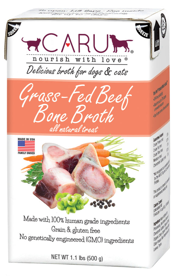 Caru Grass Fed Beef Bone Broth For Dogs & Cats