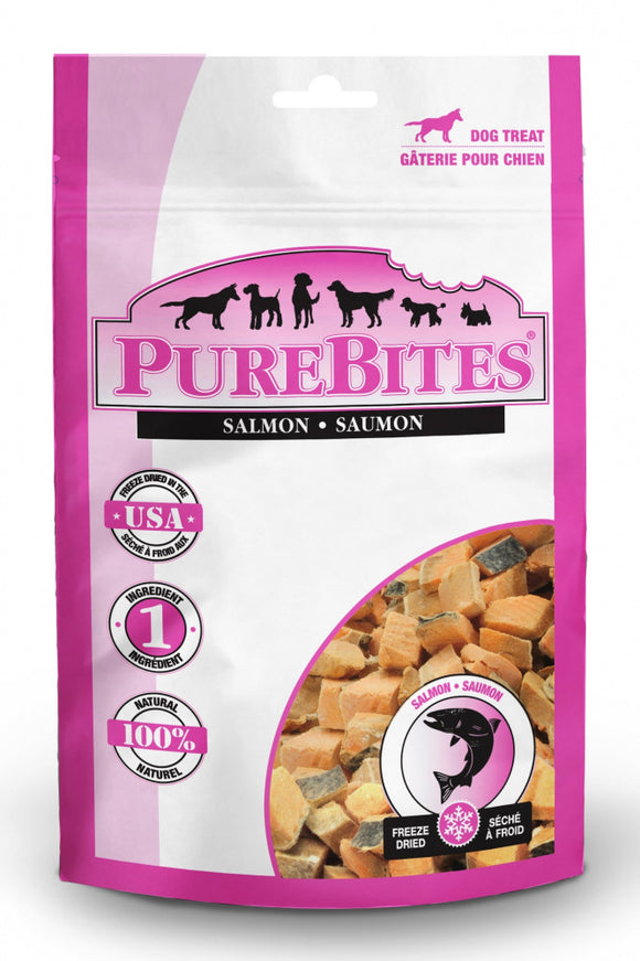 PureBites Salmon Freeze Dried Raw Dog Treats