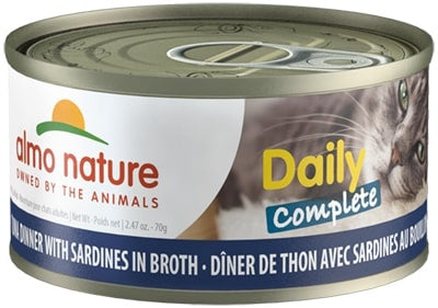Almo Nature Daily Complete Cat Tuna with Sardines in Broth Canned Cat Food