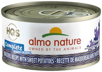 Almo Nature HQS Complete Cat Grain Free Mackerel with Sweet Potatoes Canned Cat Food