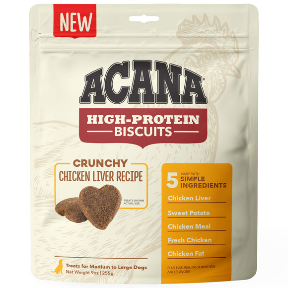ACANA Crunchy Biscuits High-Protein Chicken Liver Recipe Dog Treats