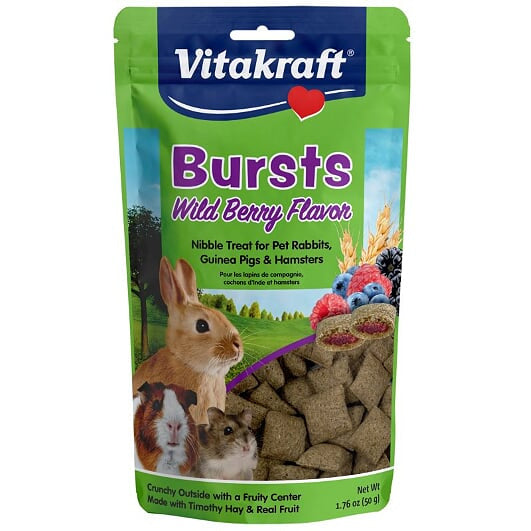 Vitakraft Bursts Wild Berries For Rabbits Guinea Pigs Chinchillas and Other Small Animals
