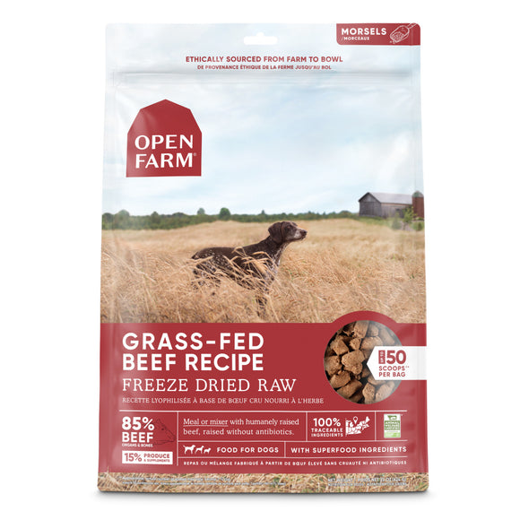Open Farm Grass Fed Beef Recipe Freeze Dried Dog Treats