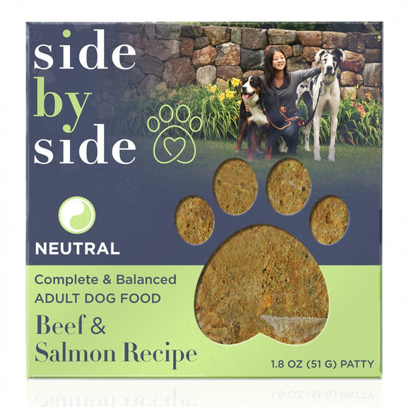 Side By Side Freeze Dried Neutral Beef & Salmon Recipe Neutral Recipe Dry Dog Food