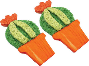A & E Nibbles Loofah Barrel Cactus Small Animal Toy