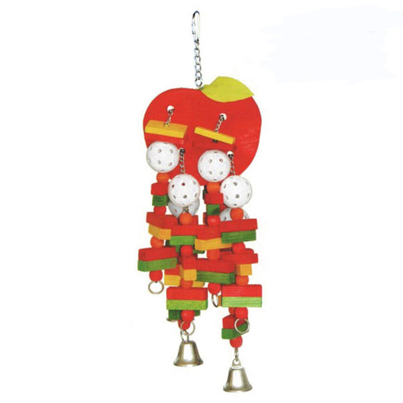 A & E Happy Beaks Large Apple Bird Cage Accessory