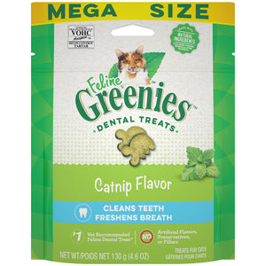 Feline Greenies Adult Natural Dental Care Catnip Flavor Cat Treats