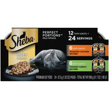 Sheba Cuts In Gravy Roasted Chicken Entre & Tender Turkey Entre Multipack Perfect Portions Twinpack Wet Cat Food