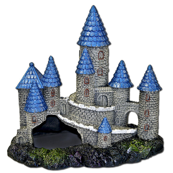 Blue Ribbon Exotic Environments Blue Spire Castle Tank Accessory
